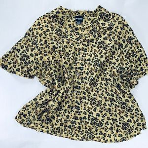 Notations Silk Top Animal Print